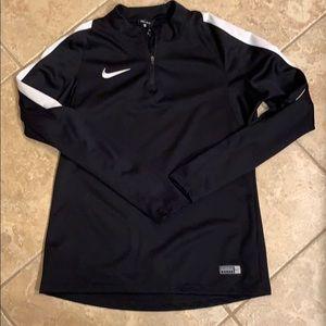 Men's Nike Dri-fit 1/4 zip soccer shirt
